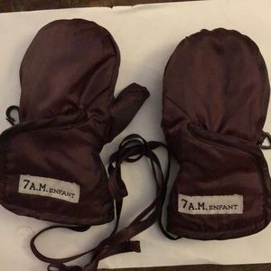 7 A.M Enfant classic mittens 6 to 12 months purple